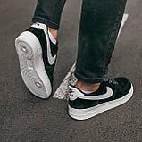 🔥 Кроссовки мужские спортивные повседневные Nike Air Force Luxury Suede (найк аир форс лакшери черные), фото 3