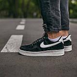 🔥 Кроссовки мужские спортивные повседневные Nike Air Force Luxury Suede (найк аир форс лакшери черные), фото 4