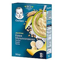 Мультизлаковая каша Gerber Йогурт, банан и груша 240 г 12449173 ТМ: Gerber