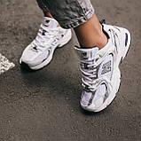 🔥 Кроссовки женские спортивные повседневные New Balance 530 (нью беланс белые), фото 6