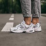 🔥 Кроссовки женские спортивные повседневные New Balance 530 (нью беланс белые), фото 7