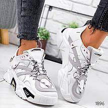 Белые кроссовки женские стиль городской, фото 2