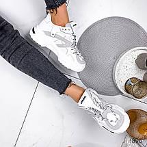 Белые кроссовки женские стиль городской, фото 3