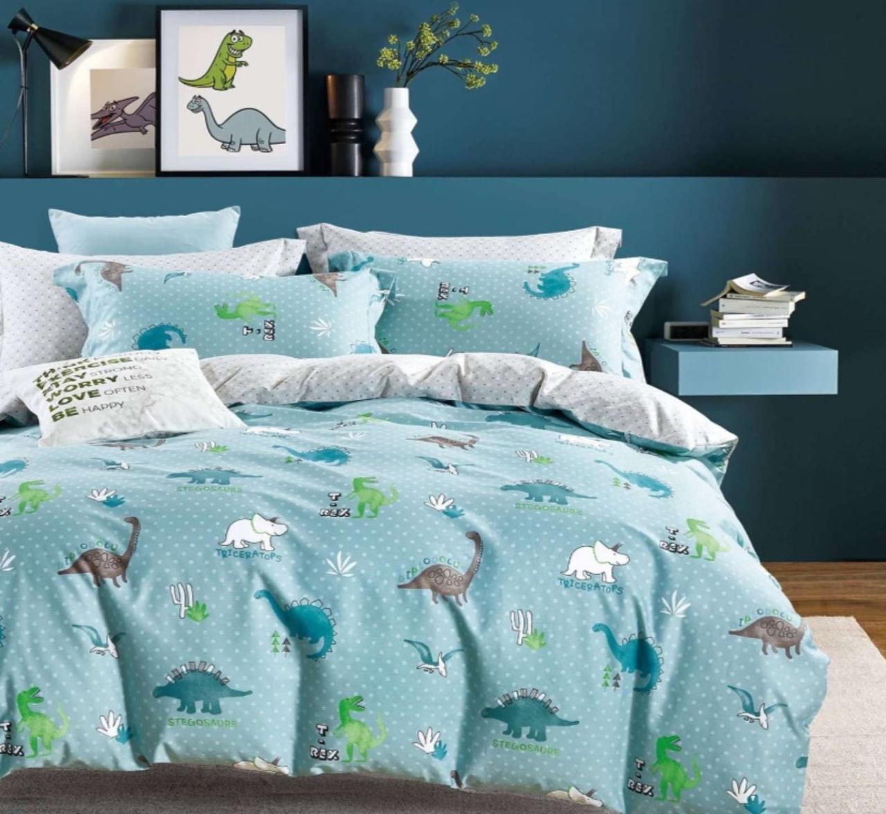 Комплект постельного белья  Бязь GOLD 100% хлопок Динозавры