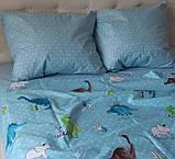 Комплект постельного белья  Бязь GOLD 100% хлопок Динозавры, фото 2