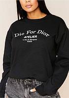 Свитшот женский черный с надписью новинка 2020, фото 1