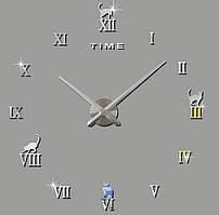 Декоративные 3D часы Silver cat (D=1м)