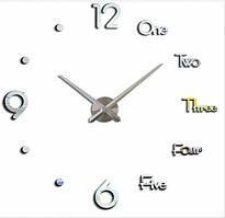 Декоративные 3D часы Silver (D=1м)