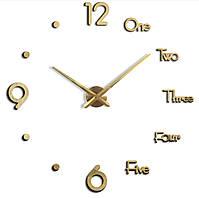 Декоративные 3D часы Gold (D=1м)