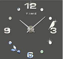 Декоративные 3D часы Silver time (D=1м)