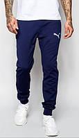 Мужские спортивные штаны puma с манжетами отличного качества