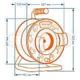 Подовжувач SVITTEX на котушці 30 м. 2х0,75 мм2 з виносною розеткою., фото 2