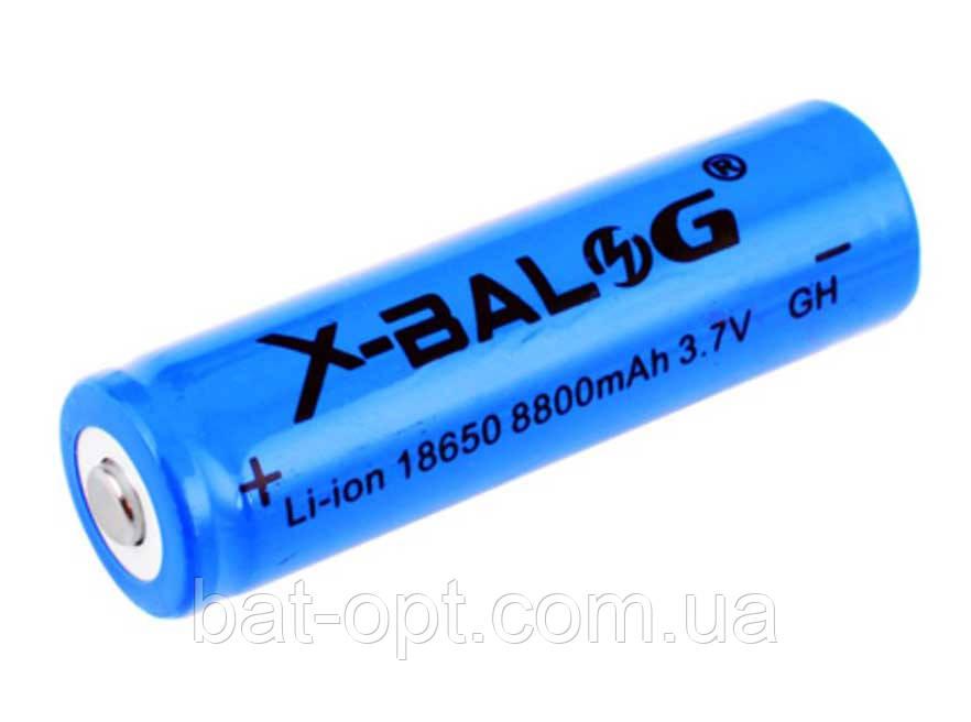 Аккумулятор Li-Ion X-Balog 18650 8800mAh синий