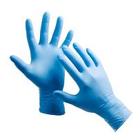 Перчатки нитриловые одноразовые L Nitrilex синие 100 шт