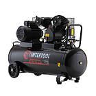 Компрессор 100 л, 4 HP, 3 кВт, 220 В, 10  атм, 500 л/мин, 2 цилиндра Intertool PT-0014, фото 2