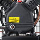 Компрессор 100 л, 4 HP, 3 кВт, 220 В, 10  атм, 500 л/мин, 2 цилиндра Intertool PT-0014, фото 7