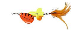 Блесна-вертушка DAM Effzett Rattlin Spinner 11см 18гр (Fluo yellow/orange)