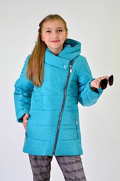 """Демисезонная куртка-косуха на девочку """" ПОЛИНА"""" 122."""