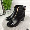 Женские ботиночки кожаные на маленьком каблуке