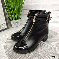Женские ботиночки кожаные на маленьком каблуке, фото 1