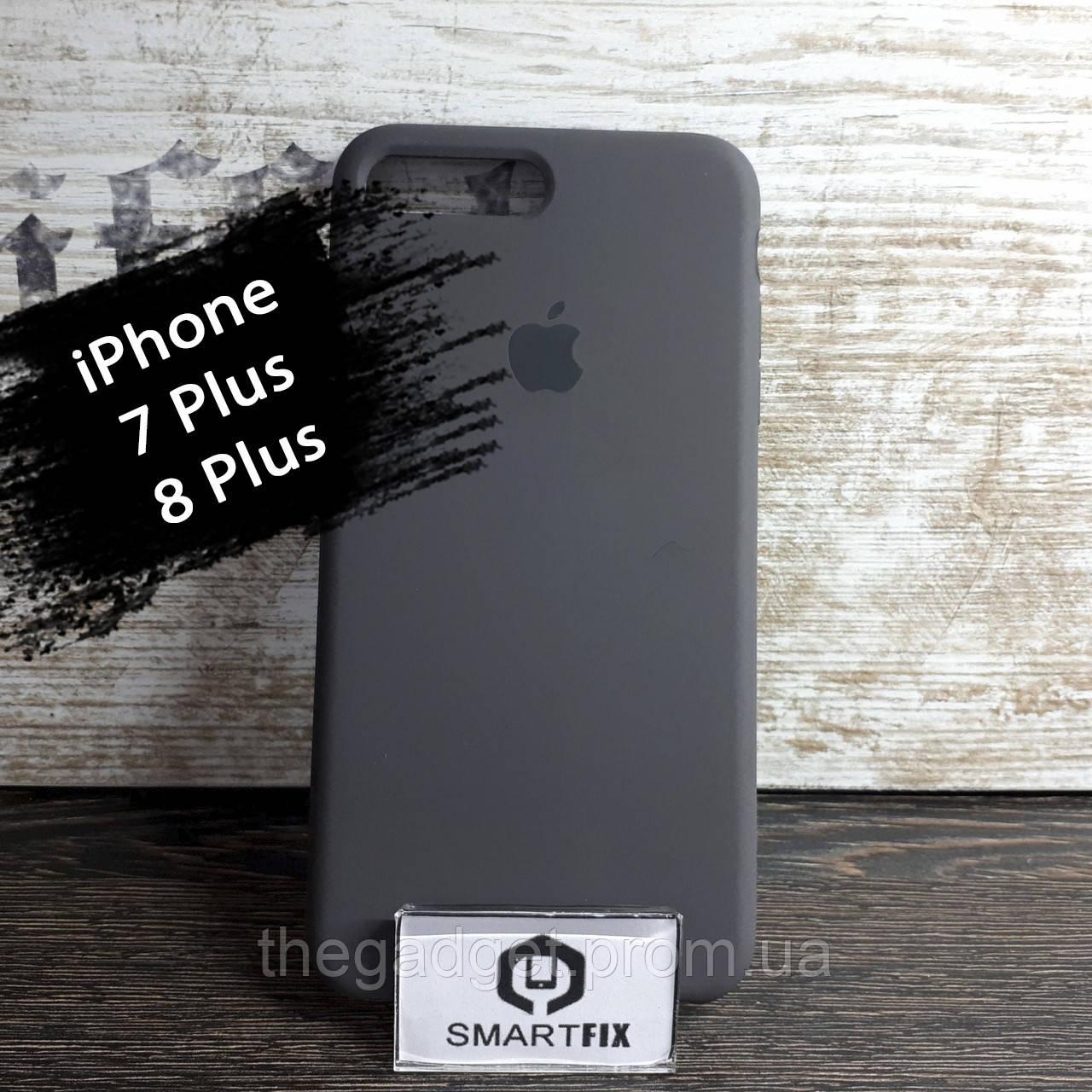 Силиконовый чехол для iPhone 7 Plus / iPhone 8 Plus Soft Темно-серый