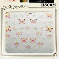 Наклейки для Ногтей Самоклеющиеся 3D Nail HSC029 Бабочки Стрекозы Материалы для Дизайна Ногтей, Слайдер