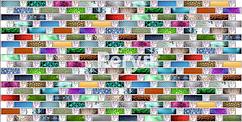 Листовая панель ПВХ на стену Регул, Мозаика (Радуга)