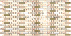 Листовая панель ПВХ на стену Регул, Мозаика (Прованс)
