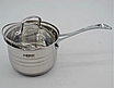 Набор кастрюль из нержавеющей стали 12 пр. 5-слойным дном Benson (2.1 , 2.1,  2.9 , 3.9, 6,5 л.)с сковородой, фото 7
