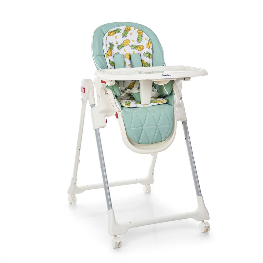 Детский стульчик для кормления ME 1037 CRYSTAL PINEAPPLE MINT