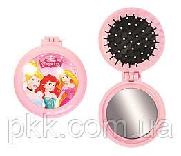 Расчёска для волос La Rosa детская с зеркалом складная Princess 7044