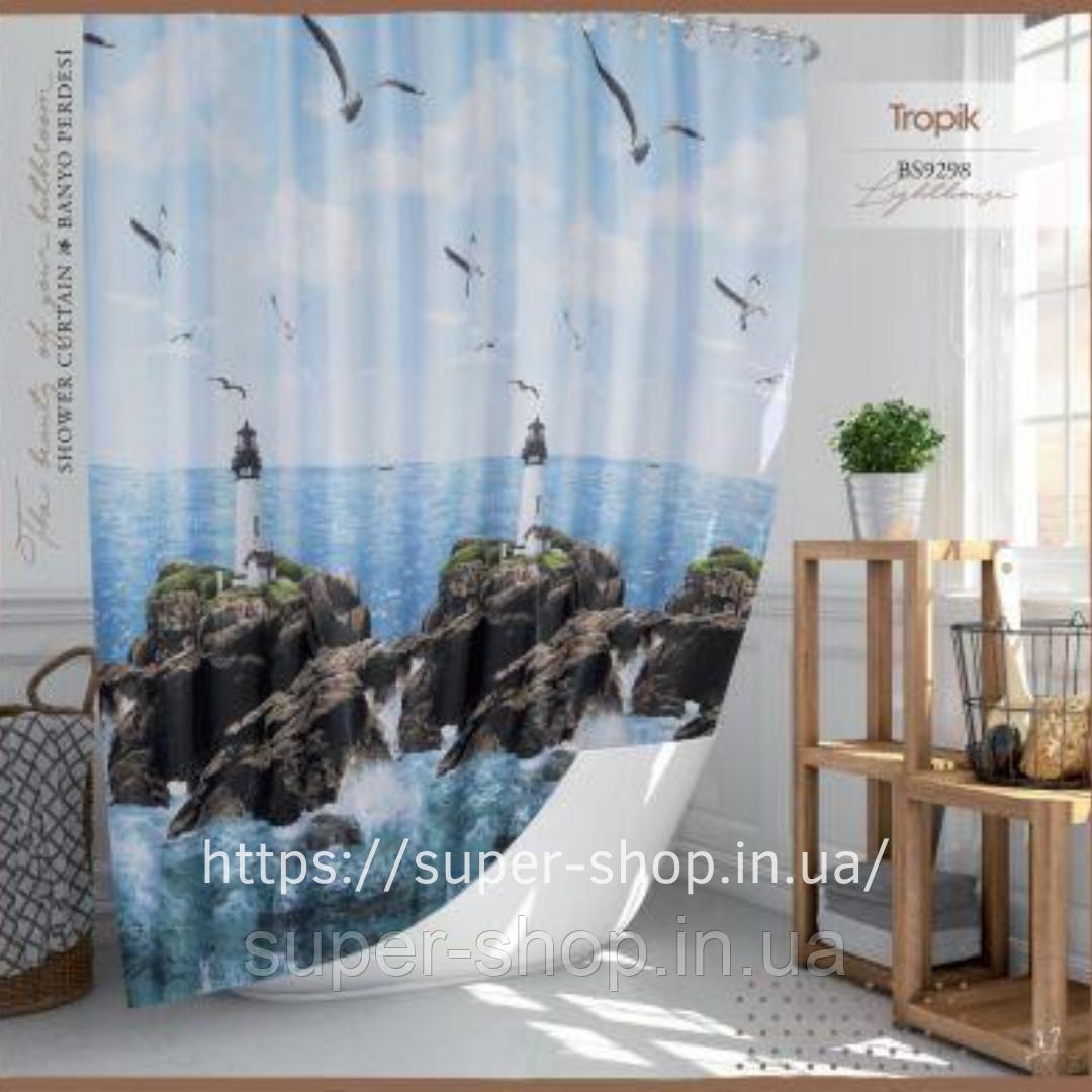Шторка для кутовою ванною Туреччина Тропік 180х200 см