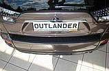 Пластикова захисна накладка на задній бампер для Mitsubishi Outlander XL 2006-2012, фото 5