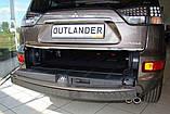 Пластикова захисна накладка на задній бампер для Mitsubishi Outlander XL 2006-2012, фото 4
