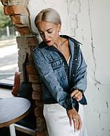 Оригинальная джинсовая курточка оверсайз в универсальном размере, фото 1