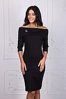 Короткое черное платье 112-1, фото 1