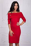 Стильное платье красного цвета 112-3