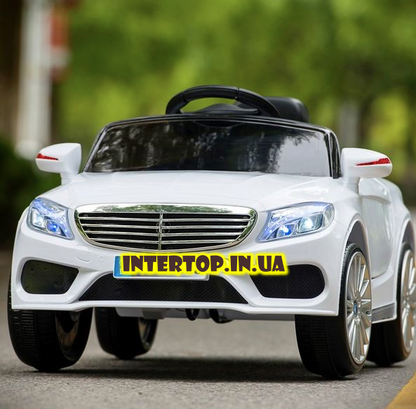 Дитячий електромобіль на пульті Mercedes (Мерседес) на EVA колесах, XM825 білий