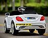 Дитячий електромобіль на пульті Mercedes (Мерседес) на EVA колесах, XM825 білий, фото 5