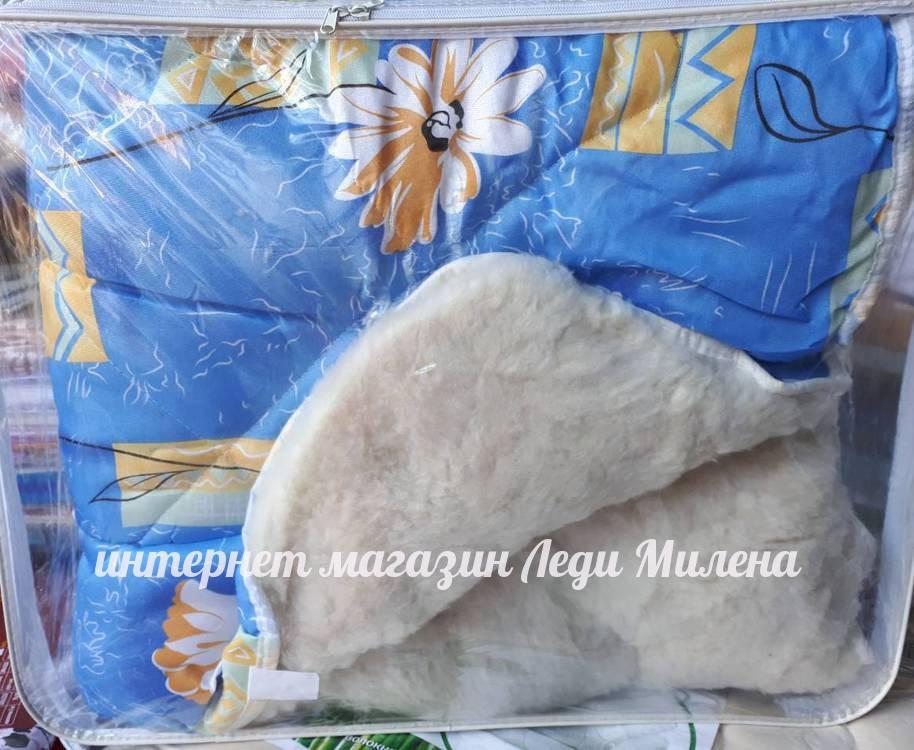 Зимнее одеяло двухспальное с открытым мехом