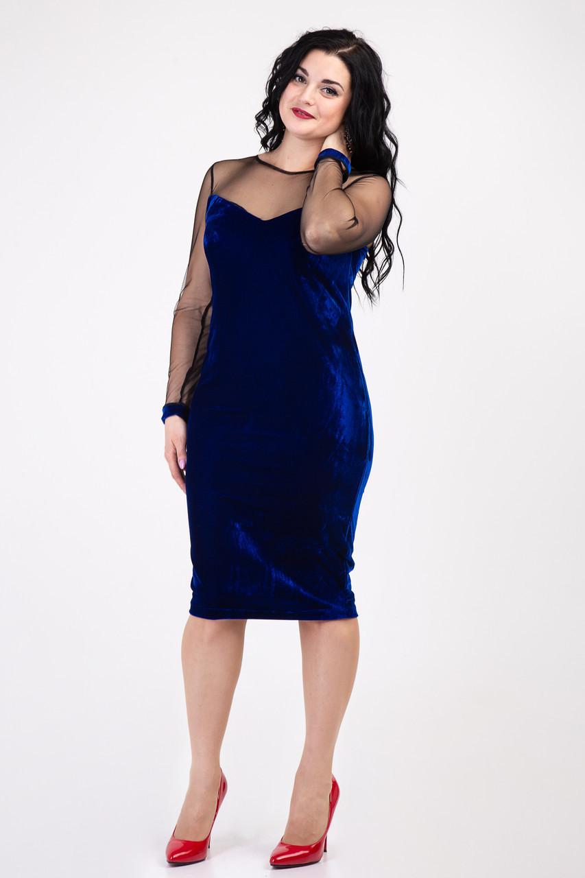 Женское нарядное бархатное платье 155