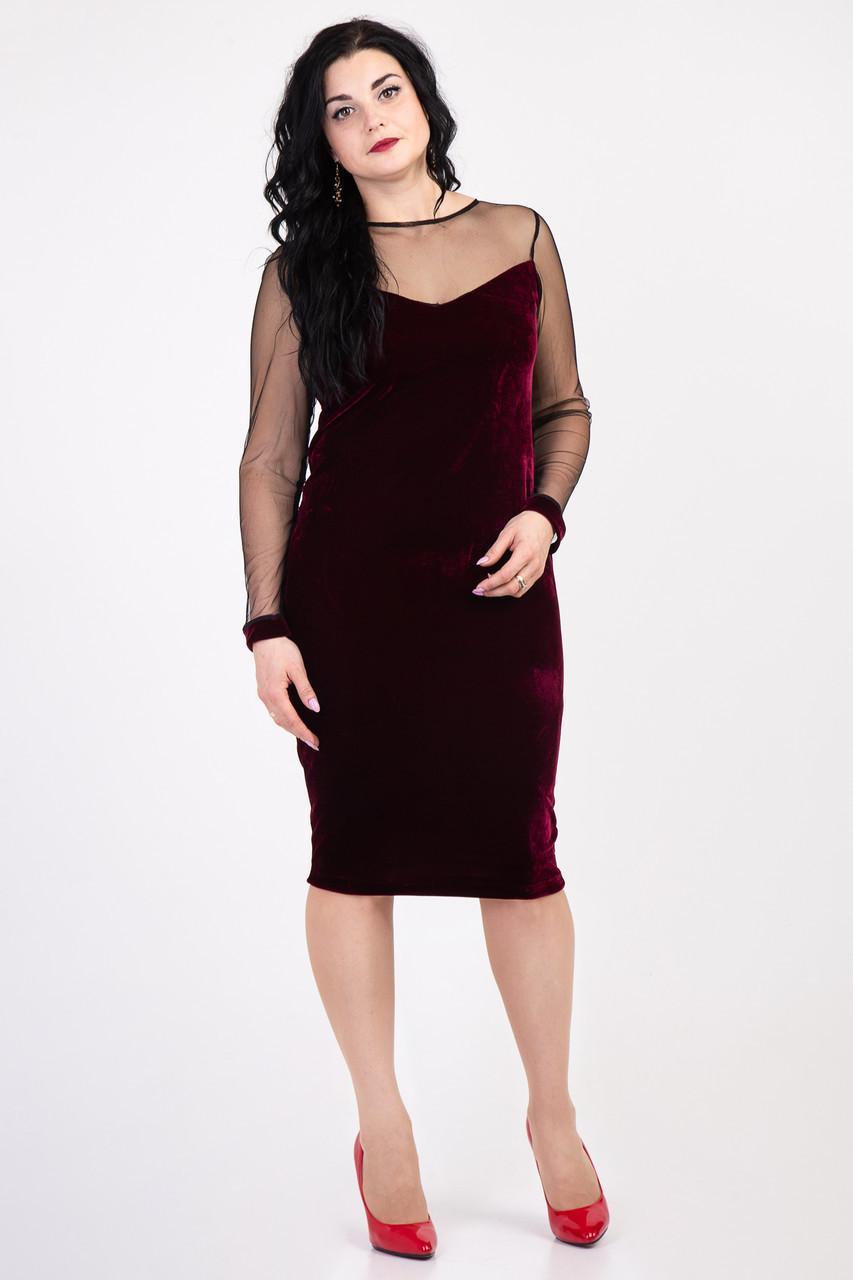Шикарное нарядное велюровое платье 155