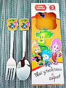Набір дитячих столових приладів | Ложка вилка дитячий набір | Дитячий набір столових приладів |