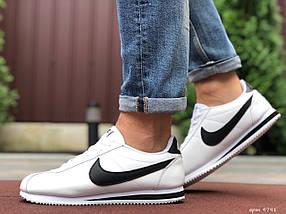 Кросівки чоловічі білі пресована шкіра класік, фото 2
