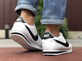 Кросівки чоловічі білі пресована шкіра класік, фото 3