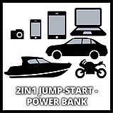 Авто Jump-Start - Power Bank Einhell CE-JS 12, фото 4