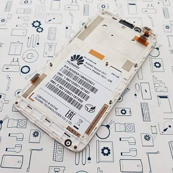 Дисплей Huawei Y511-U30 модуль белый Сервисный оригинал с разборки