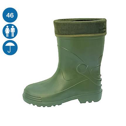 Сапоги резиновые защитные спецобувь для пищевых предприятий высокие цвет зеленый, фото 2