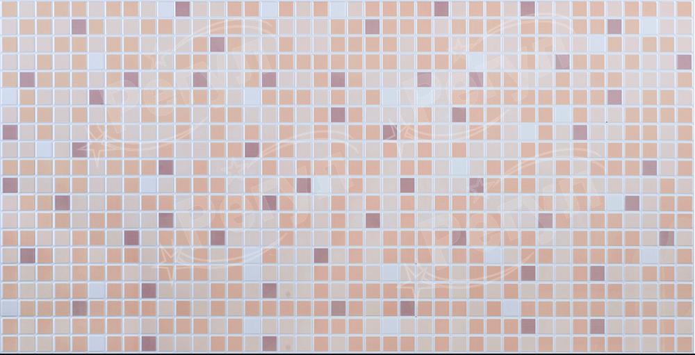 Листовая панель ПВХ на стену Регул, Мозаика (Коричневый Микс)