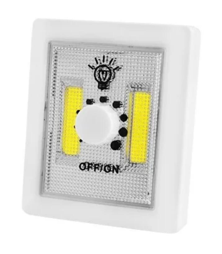 Світлодіодний світильник LED нічник вимикач на батарейках 5W